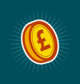 gold pound coin vector image vector image