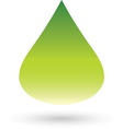 Green drop resize vector image vector image