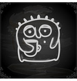 Hand Drawn Alien Drinking Coffee vector image vector image