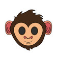 happy cute expressive monkey cartoon icon image vector image vector image