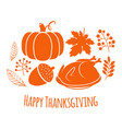 happy thanksgiving autumn background vector image vector image