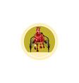 Horse and Jockey Harness Racing Retro