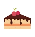 icon pie slice cake dessert isolated vector image