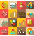 Infographic symbols parts icons set flat style vector image vector image