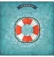Lifebuoy web icon Old vintage background vector image vector image