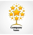 Logo design template Tree made of stars vector image