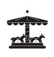 merry-go-round black concept icon merry-go vector image