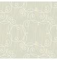 Modern swirl vintage floral seamless pattern vector image vector image