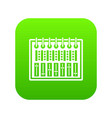 music equalizer console icon digital green vector image