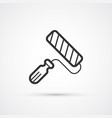 paint roller trendy flat line icon eps10 vector image