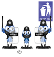 POLICEMAN LITTERLOUT vector image