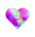 polygonal wireframe heart valentines day vector image vector image