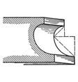 scotia a roman moulding vintage engraving vector image vector image