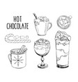 set hand drawn isolated vector image vector image