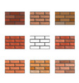 set of seamless textures of brick wall vector image