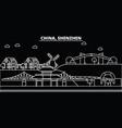 shenzhen silhouette skyline china - shenzhen vector image vector image