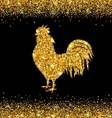 Shimmering Background with Rooster as Symbol vector image vector image