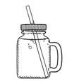 sketch - jar with soda vector image vector image