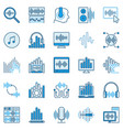 sound design blue icons - editing vector image