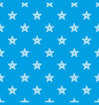 star snowflake pattern seamless blue vector image vector image
