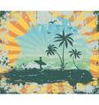 summer grunge background vector image vector image