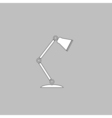 Table lamp computer symbol vector image