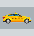 taxi sedan yellow passenger uber car with vector image vector image