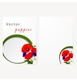 Template card with chamomile cornflowers and red vector image