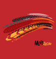 tire moto racing background vector image vector image
