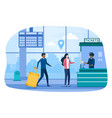 turn to buy ticket for public transport vector image