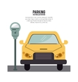vehicle parking zone design vector image vector image