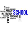 word cloud school vector image vector image