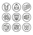 Engineering Icons vector image