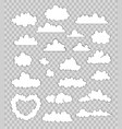 set of clouds on transparent background vector image