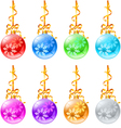 new christmas decorations vector image