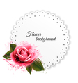 Holiday background with red pink flower and gift vector image