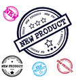New Product Grunge Stamp Set Isolated on White vector image