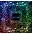 Abstract disco neon background vector image vector image