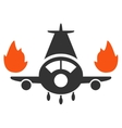 Airplane Engines Burn Icon vector image vector image