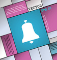 Alarm bell icon sign Modern flat style for your vector image