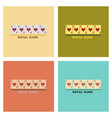 assembly flat icons poker royal flush vector image vector image