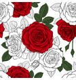 beautiful vintage seamless pattern with red black vector image vector image
