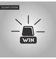 black and white style Win lamp vector image