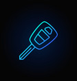 Blue car key icon