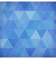 Blue vintage triangles background vector image vector image