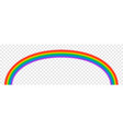 bright arched rainbow on transparent vector image vector image
