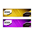 bright banner with strips on dark background set vector image vector image