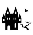 building halloween cathedral horror church festive vector image