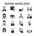business people icons set graphic design vector image