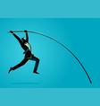 businessman using pole vault vector image vector image